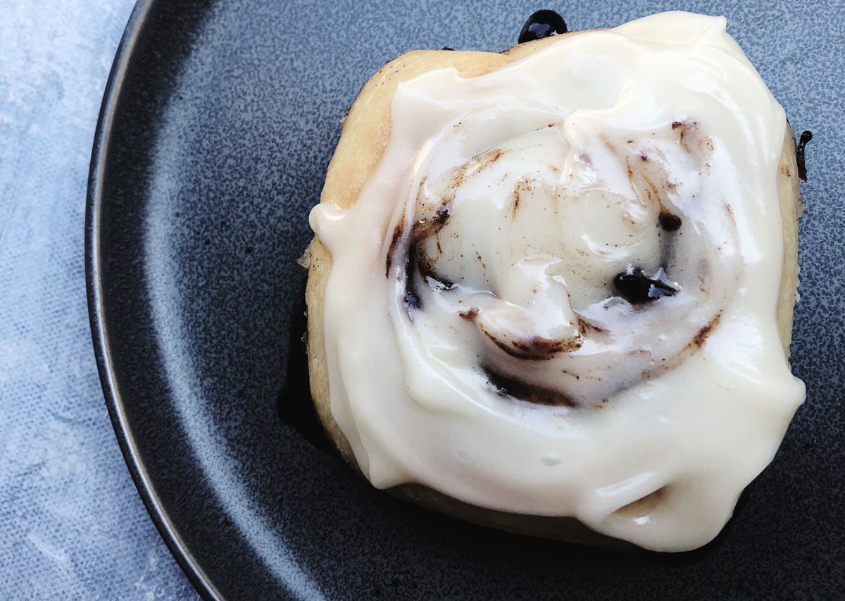 Gooey Vegan Cinnamon Rolls With Vegan Cream Cheese Icing