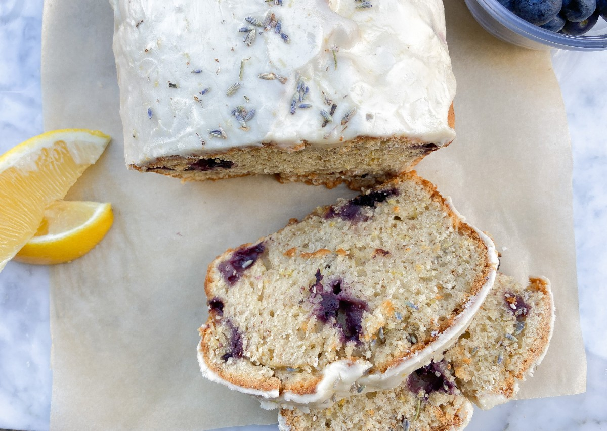 Vegan Blueberry Lemon Lavender Loaf